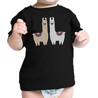 Llama modello regalo neonato t-Shirt Black