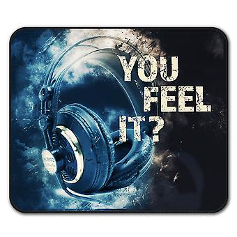 You Feel it Club DJ  Non-Slip Mouse Mat Pad 24cm x 20cm | Wellcoda