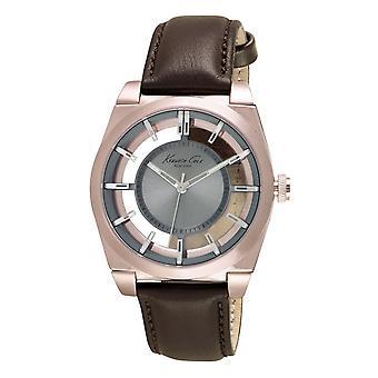 Kenneth Cole New York Herren-Armbanduhr Analog Quarz Leder 10027842