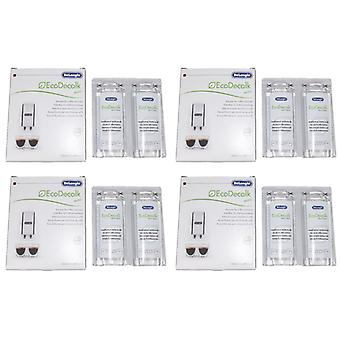 Delonghi entkalker descaler for coffee machines 8 x 100ML bottles EcoDecalk