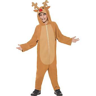 Reindeer kombinéz s kapucňou deti kostým
