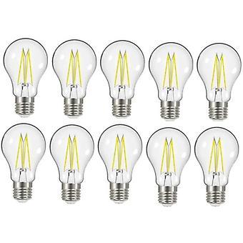 10 x Energizer 8W = 75W LED Filament GLS ampoule lampe Vintage ES E27 Clear vis Edison [classe énergétique A +]