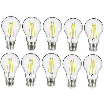 10 x Energizer 8W = 75W LED filamento GLS bombilla lámpara Vintage ES E27 clara tornillo de Edison [clase energética A +]