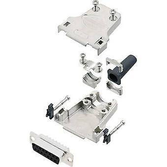 encitech DTZF15-DBS-K 6355-0044-12 D-SUB receptáculo conjunto 180 ° Número de pinos: 15 Solder balde 1 Set