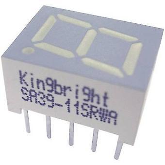 Kingbright 7-segment display groen 10 mm 2.2 V nr. cijfers: 1 SA39-11GWA