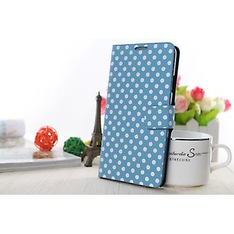 Mobiele telefoon geval (flip Kruis) dekking voor mobiele HTC one mini 2 licht blauw