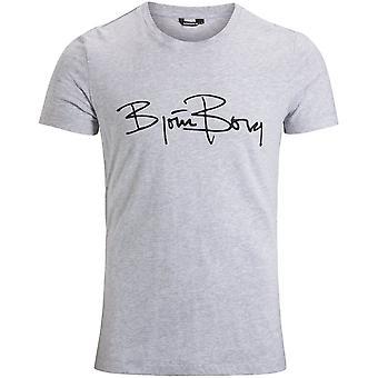 Björn Borg Signatur Logo T-Shirt, grau meliert