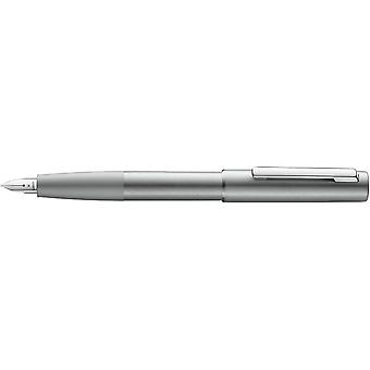 Lamy Aion Brushed Aluminium Fountain Pen - Olive Silver