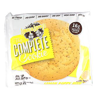 Lenny & Larry's Complete Cookies In Flavour Lemon Poppy Seed x 6 Cookies