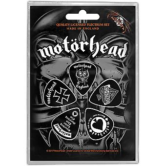 Motorhead Guitar Pick Plectrum Pack X 5 England Band Logo new Official Black