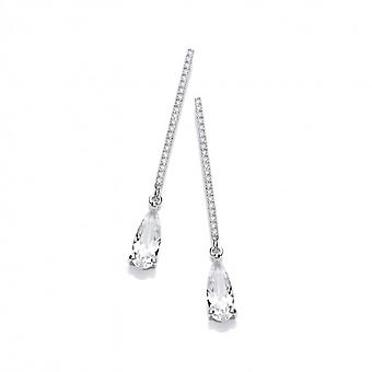 Cavendish French Classic Elegance Cubic Zirconia Drop Earrings