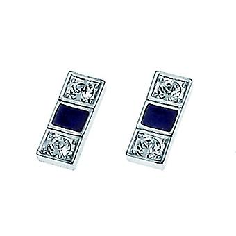 Oliver Weber Post boucle d'oreille Domino Rhodium cristal