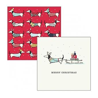 Artfile Frank Sausage Dog Christmas Cards