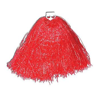 Pom Poms. Jumbo, USA Red.