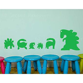 Set of Dinosaur Wall Stickers