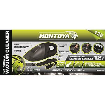 Montoya 12V Portable Compact Lightweight Powerful Suction Vacuum Cleaner