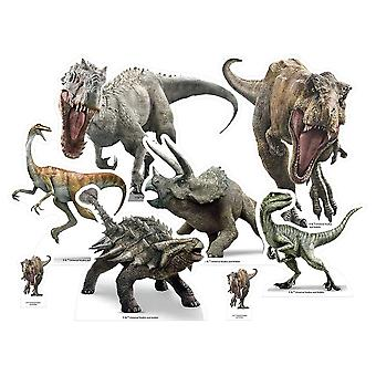 Jurassic World Dinosaur Table Top Cardboard Cutouts Party Pack of 8