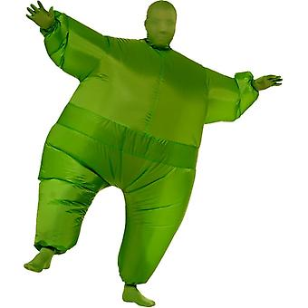 Inflatable Skin Suit Green Adult