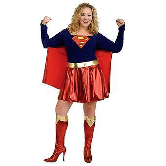 Supergirl Adult Costume Plus Size