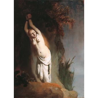 Andromeda, Rembrandt, 60x43cm