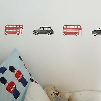 London Bus Set of 6 Wall Stickers