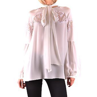 Givenchy Ezbc010020 Women's White Silk Blouse