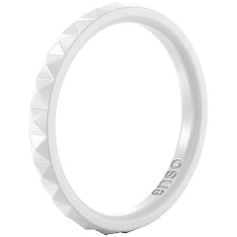 Enso Ringe Pyramide Stackables Serie Silikon-Ring - weiß