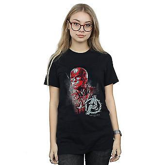 Marvel Women's Avengers Endgame Captain America Brushed Boyfriend Fit T-Shirt