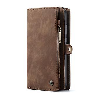 Huawei P30 CASEME Retro leather wallet Case Brown