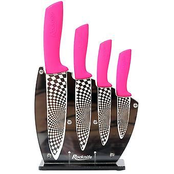 Pink Kitchen Knife Set