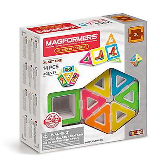 Magformers XL Neon 14PCS Set Magnetic Toy