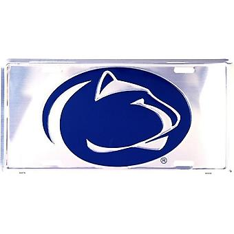 Penn State Nittany Lions NCAA Silver Mirror License Plate
