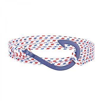 ホラーカービィ ブルー サンドブラストフック/ ホワイト、ブルー、レッド パラコード ブレスレット HLB-03BUS-P01