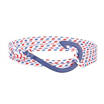Holler Kirby Blue Sandblasted Hook/Weiß, Blau und Rotes Paracord Armband HLB-03BUS-P01