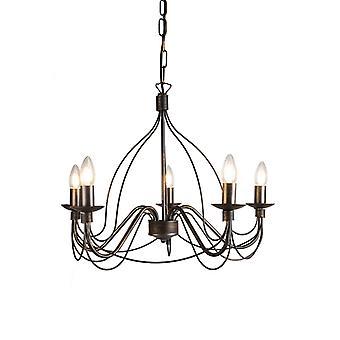 QAZQA Classic chandelier brown - Zero Branco 5