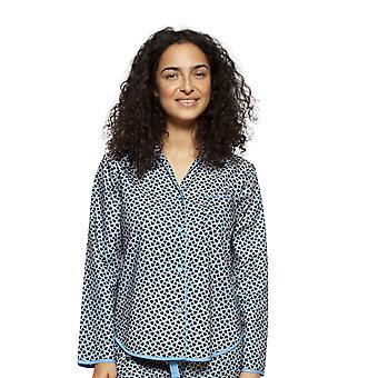 Cyberjammies 4193 kvinnors Milly svart mix kakel Print bomull pyjamas Top