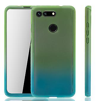 هواوي شرف عرض 20 حالة حماية حالة الهاتف كامل غطاء خزان حماية الزجاج الأخضر / الأزرق