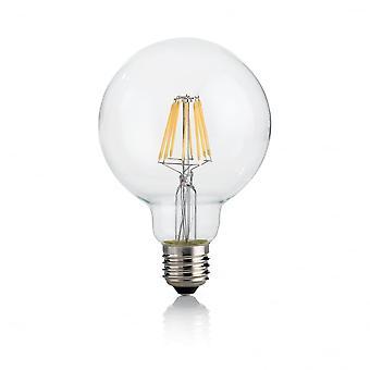 Ideal Lux Light Bulb Classic E27 8W Globo D95 Transparent 4000K