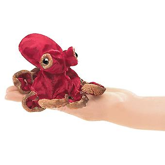 Finger Puppet - Folkmanis - Octopus Mini Red New Toys Soft Doll Plush 2767