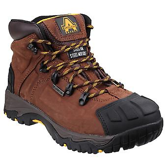 Amblers Safety Mens FS39 Waterproof Lace up Safety Boot Brown