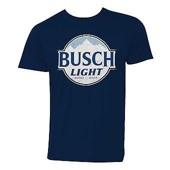 Busch Light Logo Men's Navy Blue T-Shirt