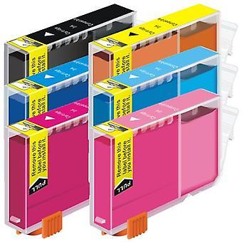 CLI-8 Compatible Inkjet Cartridge Set  6 Ink Cartridges