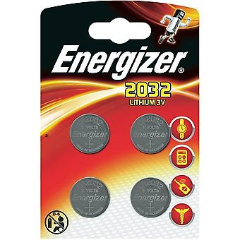 Energizer CR2032 litio moneda - (paquete de 4)