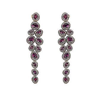 Brumani Earrings For Rose 18-karat Gold Wild Red Oval