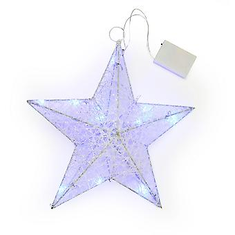 Christmas Shop White Star Light Decoration