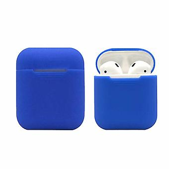 Silikons Shell Cas pour Apple Airpods / Airpods 2-Blue