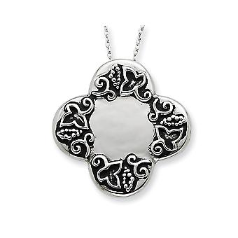 925 Sterling Silver Spring Ring Rhodium plaqué finition Dieters Religious Faith Cross 18inch Necklace Jewelry Gifts for Wo