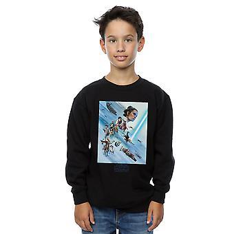 Star Wars uppkomsten av Skywalker Resistance affisch Boys Sweatshirt