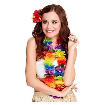 Bright Multi Coloured Large Hawaiian Lei Fancy Dress Accessory