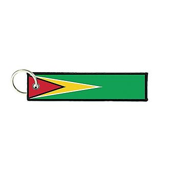 Port Cles Key Cle Homme Homme Fabric Brode Prints Flag Guyana